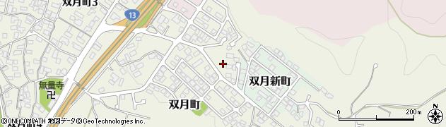 山形県山形市双月町周辺の地図