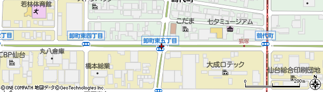 卸町東5周辺の地図