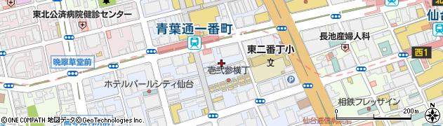 宮城県仙台市青葉区一番町周辺の地図