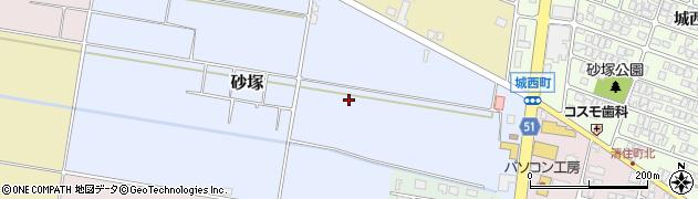 山形県山形市砂塚周辺の地図