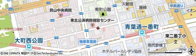 宮城県仙台市青葉区大町1丁目周辺の地図