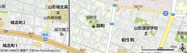 山形県山形市錦町周辺の地図