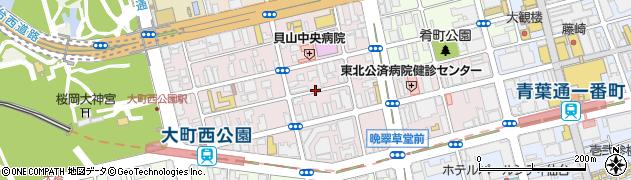宮城県仙台市青葉区大町周辺の地図
