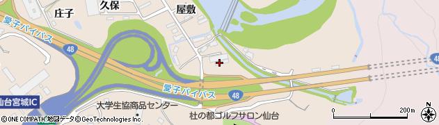 宮城県仙台市青葉区郷六(大霜)周辺の地図