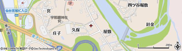 宮城県仙台市青葉区郷六(屋敷)周辺の地図