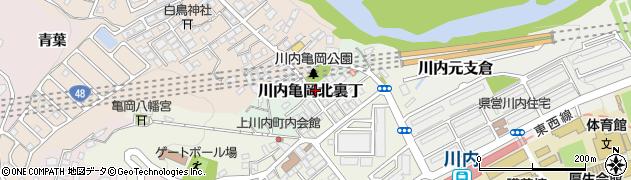 宮城県仙台市青葉区川内亀岡北裏丁周辺の地図