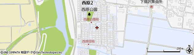 山形県山形市西原周辺の地図