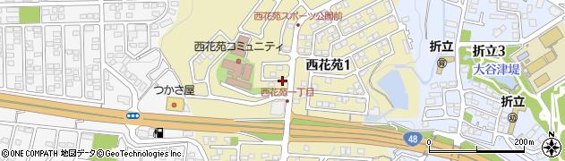 宮城県仙台市青葉区西花苑周辺の地図