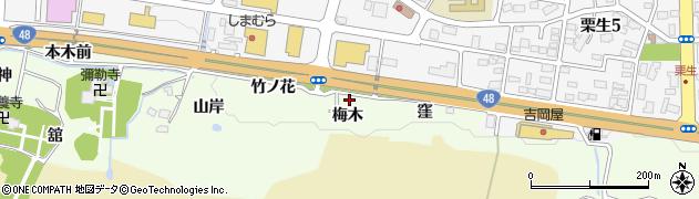 宮城県仙台市青葉区下愛子(梅木)周辺の地図