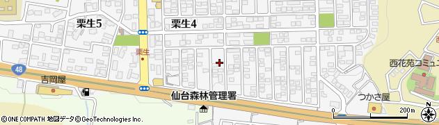 宮城県仙台市青葉区栗生周辺の地図