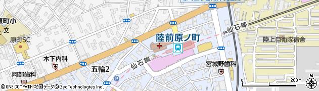 宮城県仙台市宮城野区周辺の地図