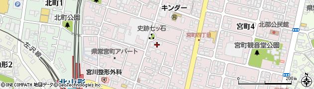 山形県山形市宮町周辺の地図