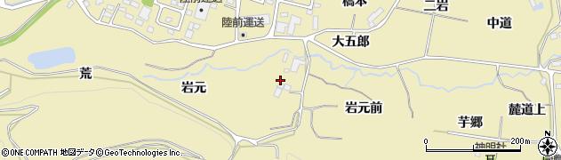 宮城県仙台市青葉区上愛子(岩元)周辺の地図
