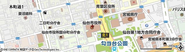 仙台市周辺の地図