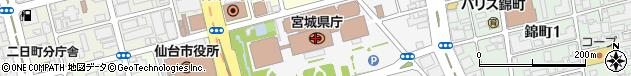 宮城県周辺の地図