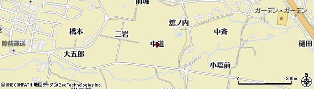 宮城県仙台市青葉区上愛子(中道)周辺の地図