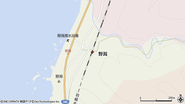 〒958-0006 新潟県村上市野潟の地図