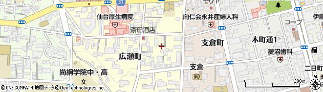 宮城県仙台市青葉区広瀬町周辺の地図