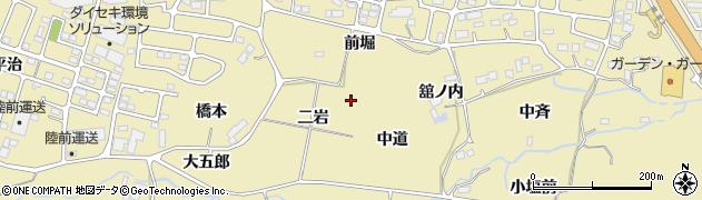 宮城県仙台市青葉区上愛子(二岩)周辺の地図