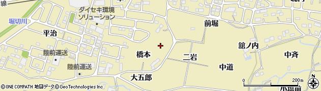 宮城県仙台市青葉区上愛子(橋本)周辺の地図