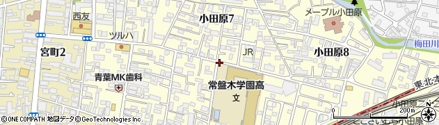 宮城県仙台市青葉区小田原周辺の地図