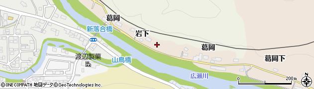 宮城県仙台市青葉区郷六(岩下)周辺の地図