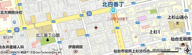 宮城県仙台市青葉区二日町周辺の地図