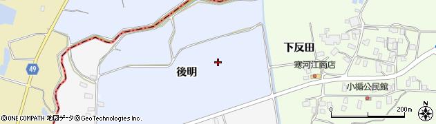 山形県山形市後明周辺の地図