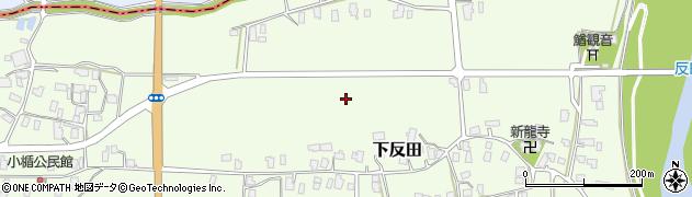 山形県山形市下反田周辺の地図