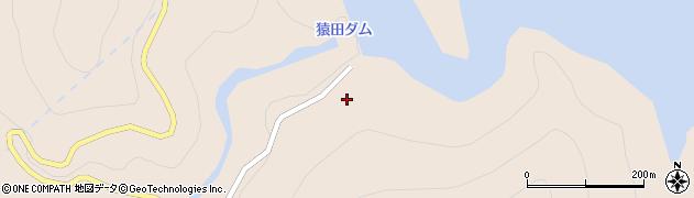 猿田ダム周辺の地図
