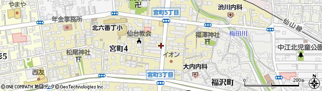 リパーク仙台宮町4丁目第2周辺の地図