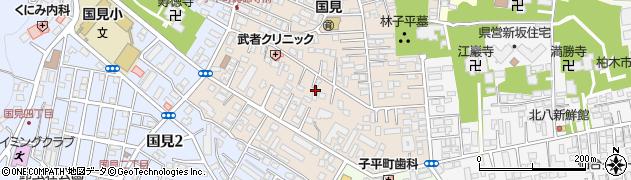 宮城県仙台市青葉区子平町周辺の地図