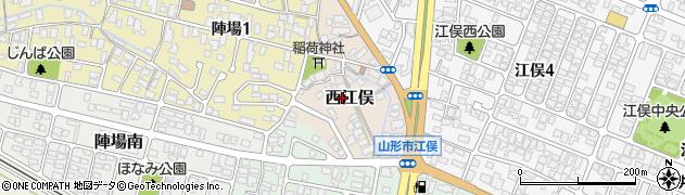 山形県山形市西江俣周辺の地図