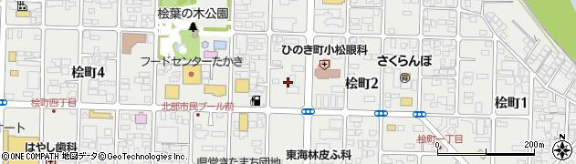 山形県山形市桧町周辺の地図
