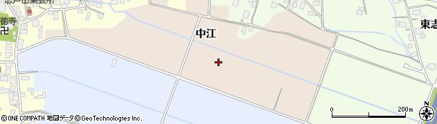 山形県山形市中江周辺の地図