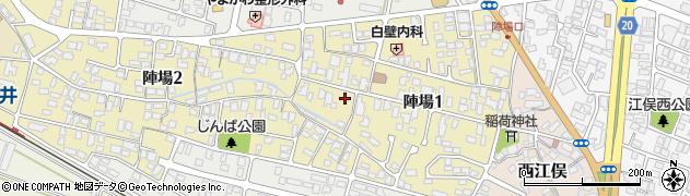 山形県山形市陣場周辺の地図