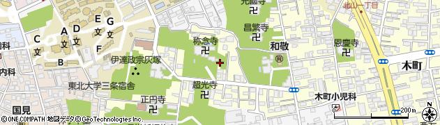宮城県仙台市青葉区新坂町周辺の地図