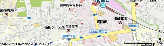 宮城県仙台市青葉区昭和町周辺の地図