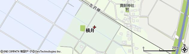 山形県山形市横井周辺の地図