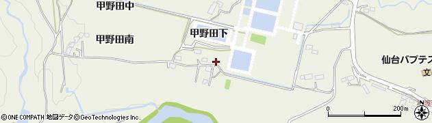 宮城県仙台市青葉区芋沢(甲野田下)周辺の地図