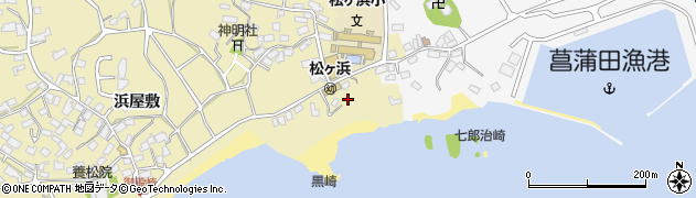 宮城県宮城郡七ヶ浜町松ヶ浜長根周辺の地図