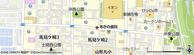 山形県山形市馬見ケ崎周辺の地図