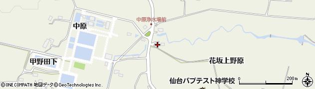宮城県仙台市青葉区芋沢(花坂上野原)周辺の地図