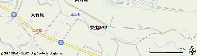 宮城県仙台市青葉区芋沢(栗生沢中)周辺の地図