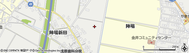 山形県山形市陣場新田周辺の地図