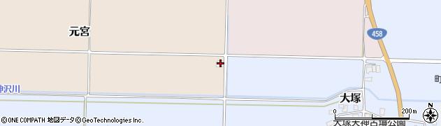 山形県東村山郡山辺町元宮周辺の地図