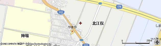 山形県山形市北江俣周辺の地図