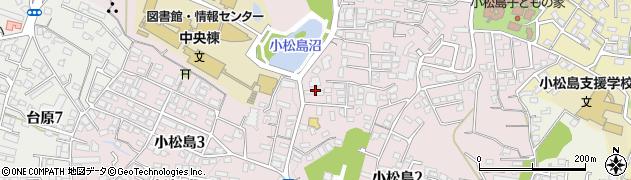 宮城県仙台市青葉区小松島周辺の地図