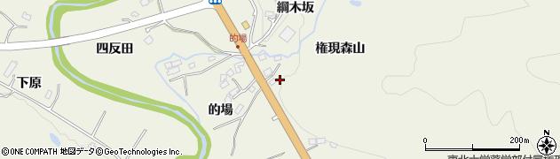 宮城県仙台市青葉区芋沢(権現森山)周辺の地図