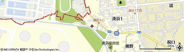 宮城県宮城郡七ヶ浜町湊浜砂山周辺の地図